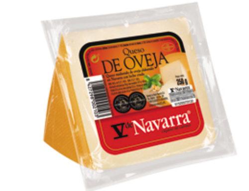 5-Cuña de queso oveja V Navarra ahumado 250 g. (24 u/c)
