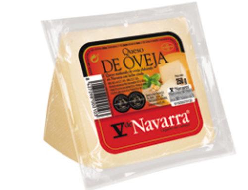 5-Cuña de queso oveja V Navarra natural 250 g. (24 u/c)