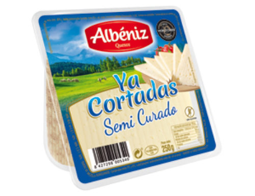 5-Ready-cut semi-hard cheese wedge, 250 g.