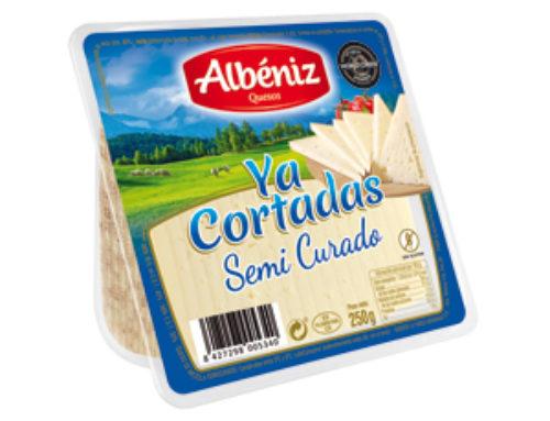 """5-Cuña de queso semicurado """"Ya cortadas"""" 250 g."""